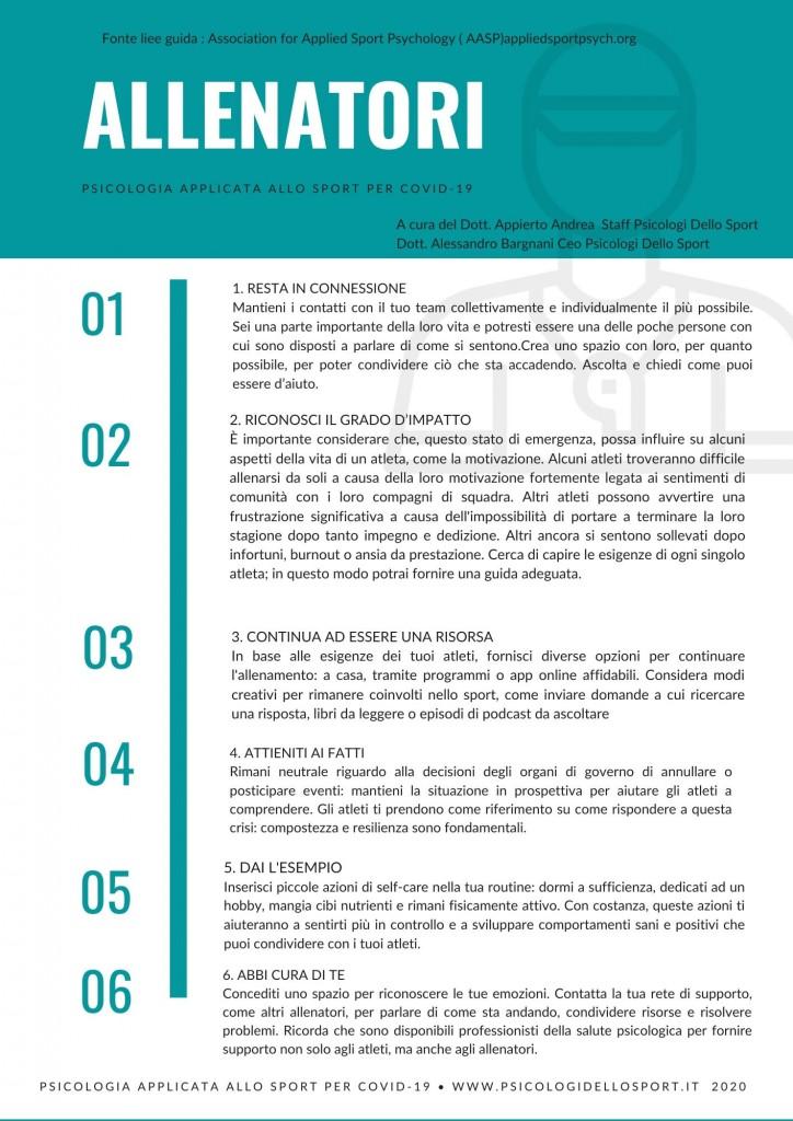 Psicologia Applicata Allo Sport Per Covid 19 Linee Guida Atleti Allenatori Genitori Psicologi Dello Sport