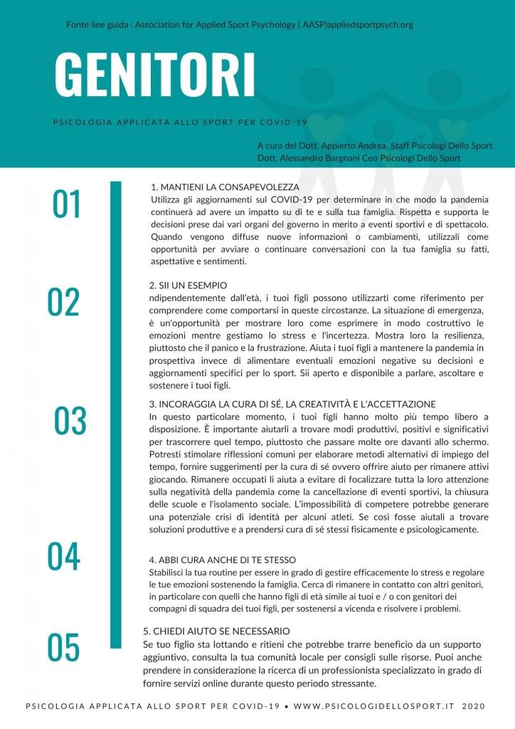 4PDF STAMPA Psicologia Applicata allo Sport linee guida covid 19