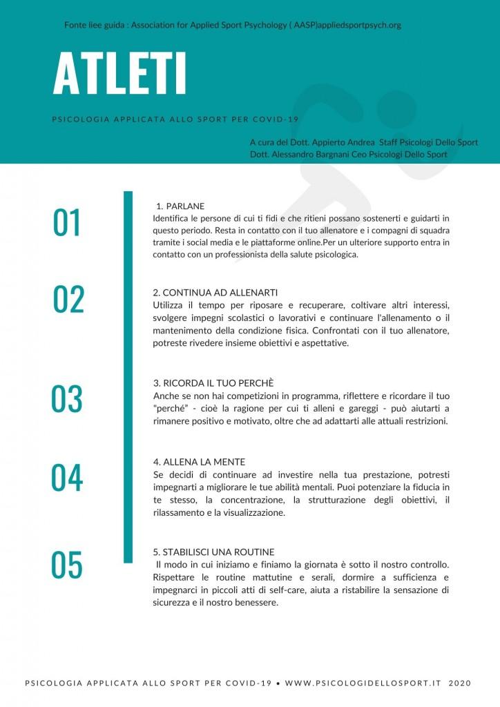 PDF Psicologia Applicata allo Sport linee guida covid 19 psicologi dellosport.it