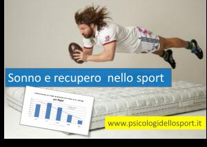 Sonno e recupero nello sport
