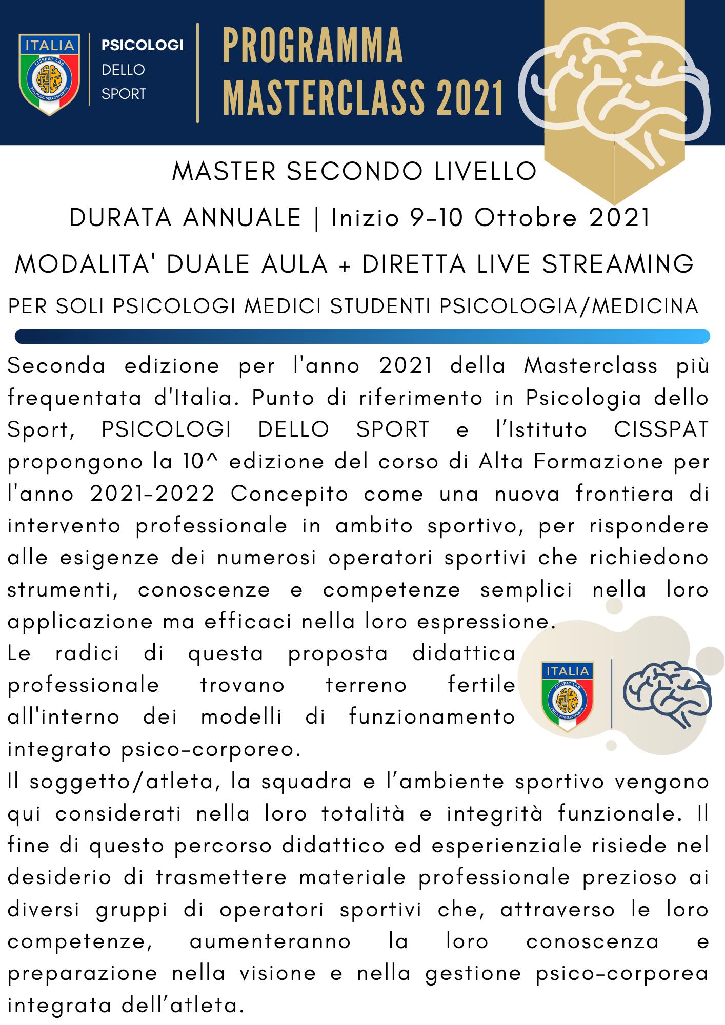 Masterclass 2021 psicologi dello sport e dell esercizio fisico sport psico psicologia dello (2)