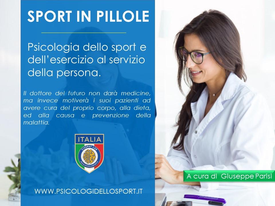 Psicologia dello sport e dell'esercizio al servizio della persona.