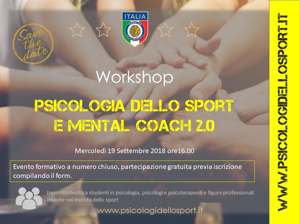 workshop settmebre aips psicologi dello sport
