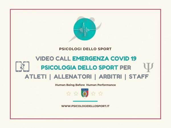 Video call center psicologia dello sport sos psy sport covid19