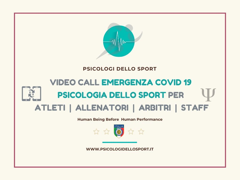 Video call center psicologia dello sport sos psy sport covid19