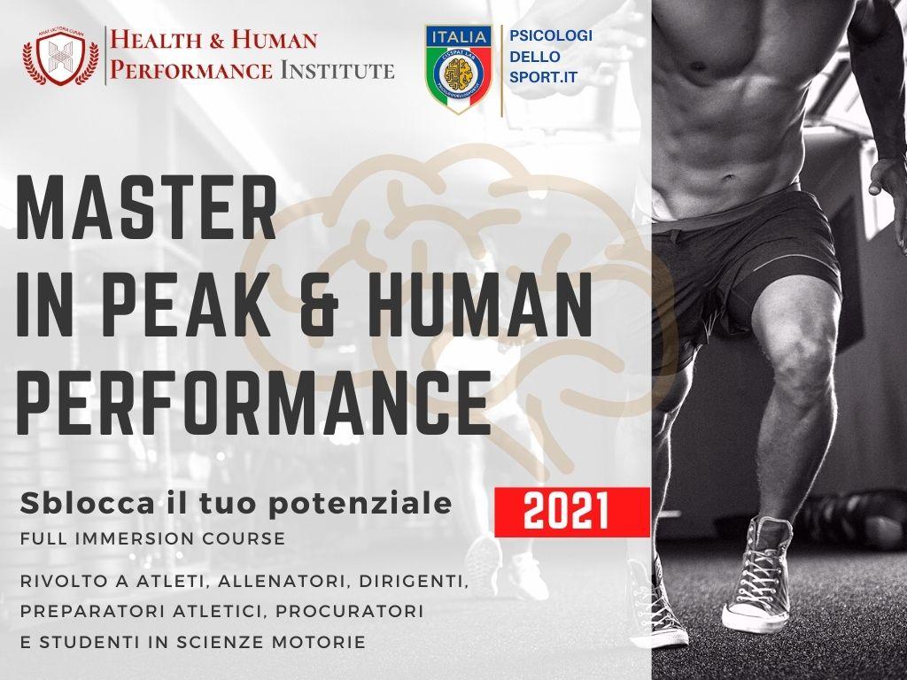 master peak performance prestazione umana primo livello