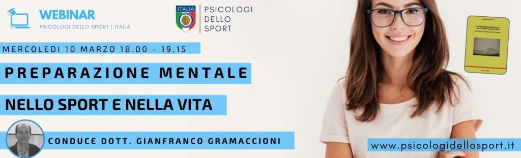 Preparazione Mentale Gianfranco Gramaccioni banner psicologi dello sport psicologia applicata community