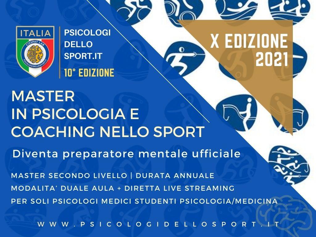 MASTER PSICOLOGIA DELLO SPORT COMMUNITY psicologia applicata psicologi dello sport e dell esercizio fisico