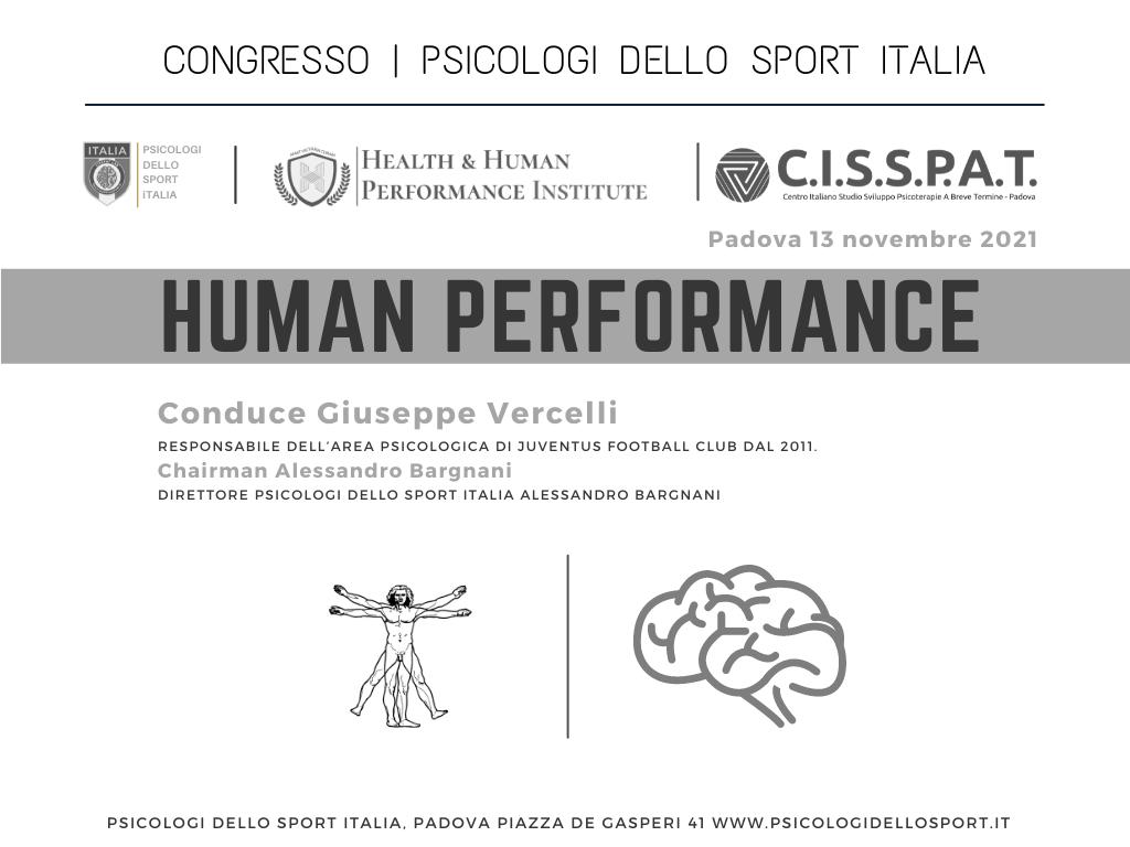 congresso human performance gioseppe vercelli bargnani alessandro juventus psicologi dello sport psico sport