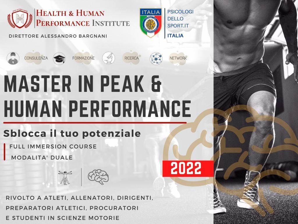 MASTE IN PEAK & hUMAN PERFORMANCE Congresso Human Performance Giuseppe Vercelli Psicologi dello Sport Italia (1)
